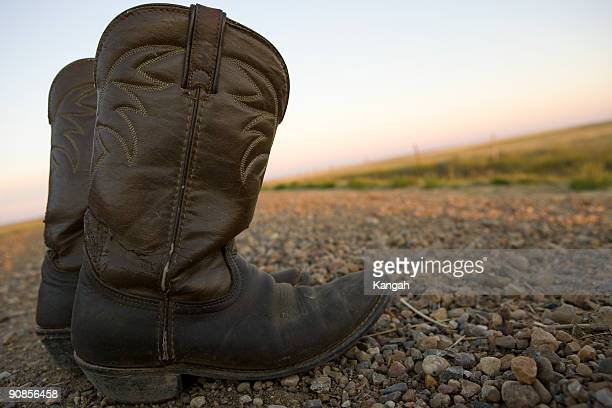 cowboy boots 3 - stiches stock photos and pictures