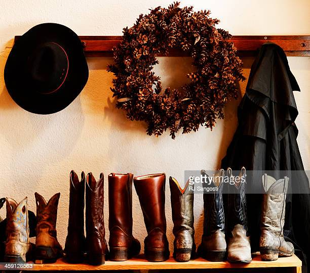 Cowboy boots are lined up for guest at Sundance Trail Guest Ranch in Red Feather Lakes December 20 2013 The holiday season in a popular time for...