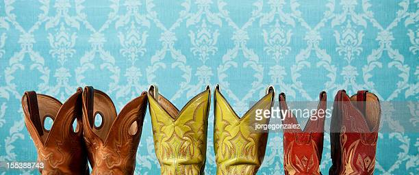 cowboy boots detail - cowboy boot stock pictures, royalty-free photos & images