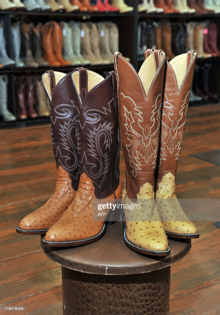 Cowboy boots made by the Alberta Boot Company Inc. for