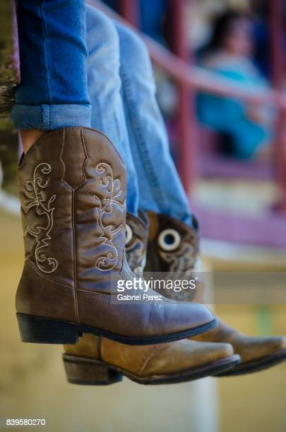 cowboy boots of texas - san antonio texas stock photos and pictures