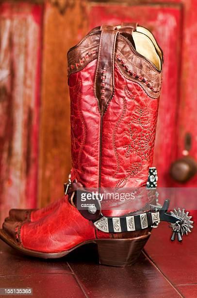 Cowboy Boots with rhinestone belt