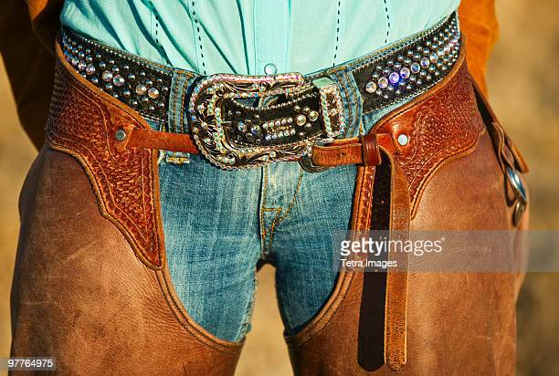 cowboy chaps - leather belt stock pictures, royalty-free photos & images