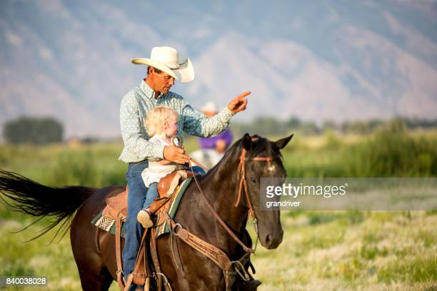 Cowboy Dad and Two Year Old Girl