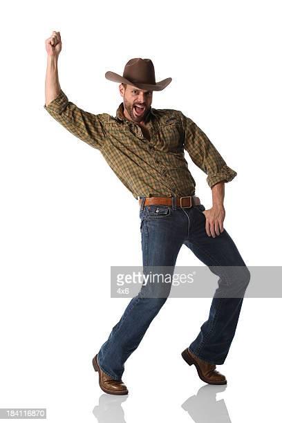 cowboy dancing - cowboy stockfoto's en -beelden