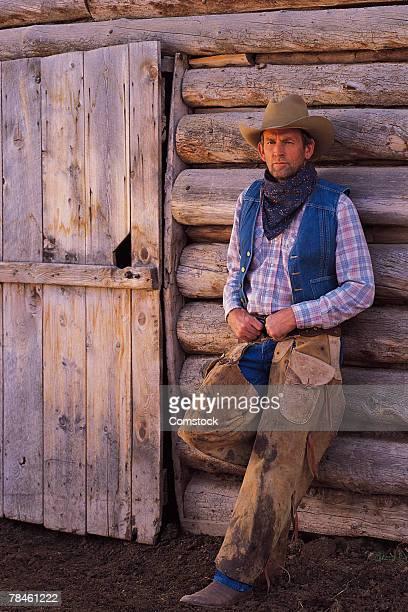 cowboy from fairplay, colorado - pantalón de cuero fotografías e imágenes de stock