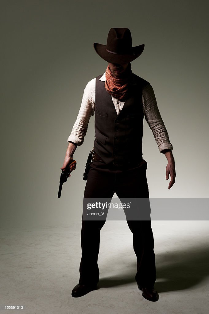 Cowboy Gunslinger : Stock Photo