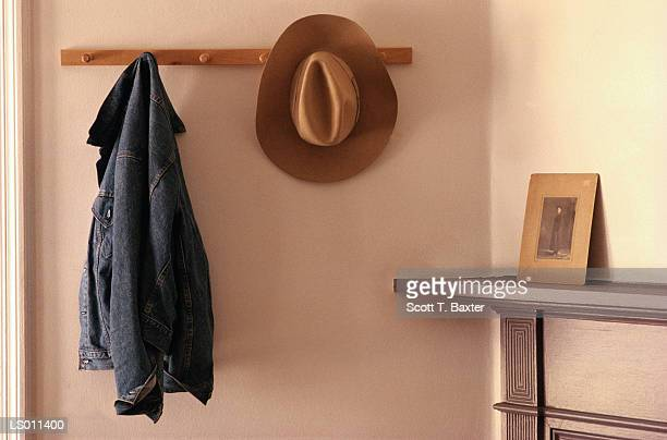 Cowboy Hat and Jacket on Rack