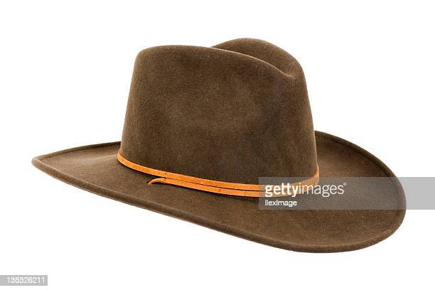 cowboy hat close-up - cowboy hat stock pictures, royalty-free photos & images