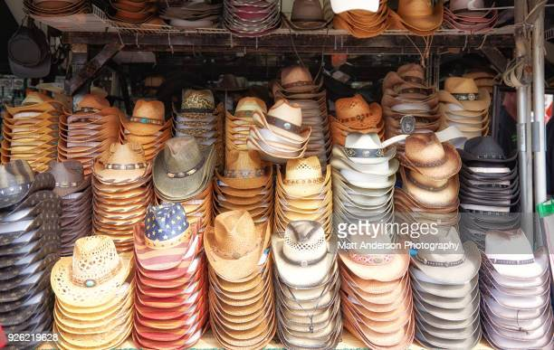cowboy hats for sale - cowboy hat stock pictures, royalty-free photos & images