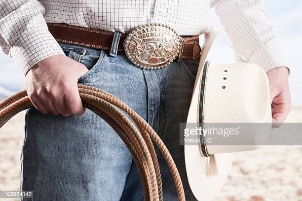 Cowboy holding a rope