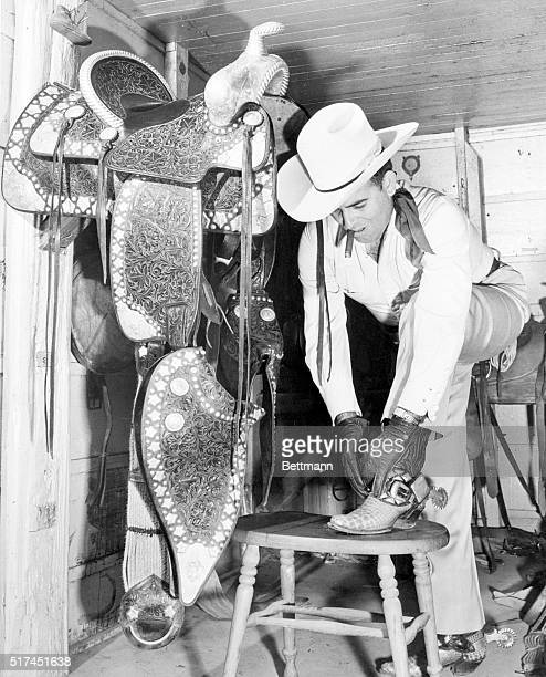 """Cowboy Music Pays Off. Hollywood, Calif.: Practically knocking them dead in the aisles, """"Bob Wills and his Texas Playboys"""" recently drew in 19,500..."""