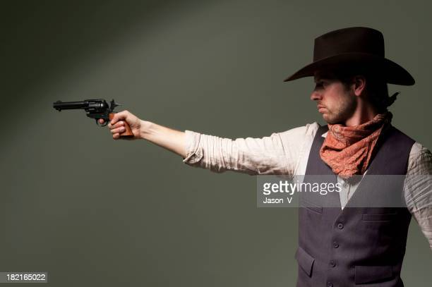 Cowboy Pointing a gun