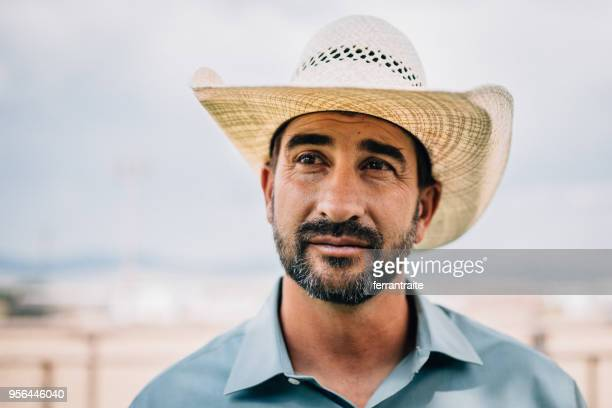 cowboy portrait - mexican ethnicity stock pictures, royalty-free photos & images
