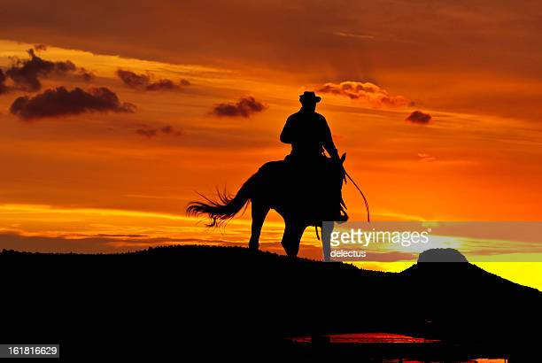 Cowboy rides into the night