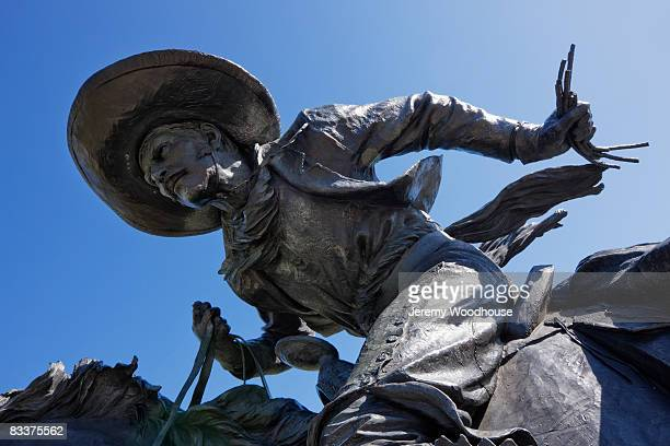 cowboy sculpture detail - dallas stock pictures, royalty-free photos & images
