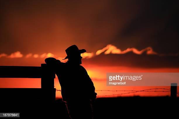 Silhouette de cow-boy