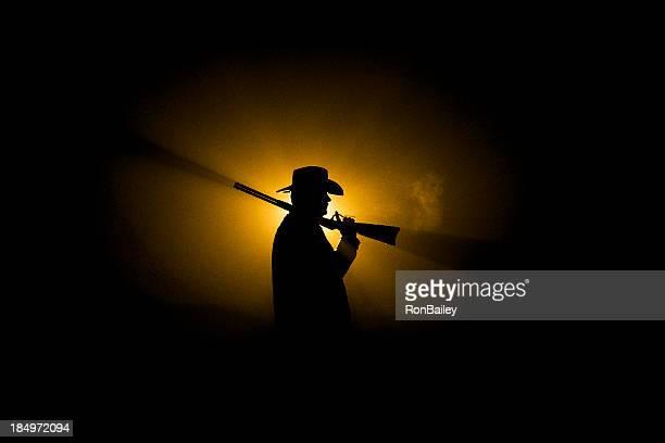 Cowboy Silhouette - Rifle on Shoulder