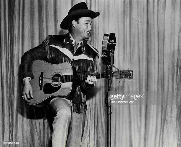 FEB 3 1952 Cowboy Singing Star To Be In Denver Roy Rogers soon coming to town for The Denver PostRoy Rogers topspinning contest has two fine new...