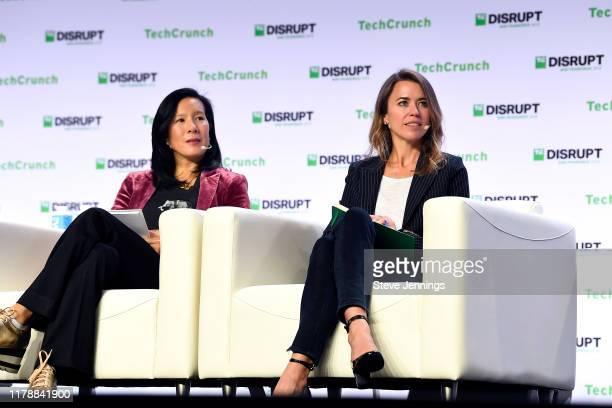Cowboy Ventures Founder and Managing Partner Aileen Lee and New Enterprise Associates Partner Dayna Grayson speak onstage during TechCrunch Disrupt...