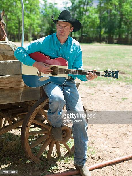 Cowboy with a guitar