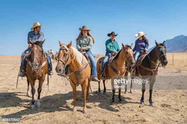 Cowboys en Cowgirls groep