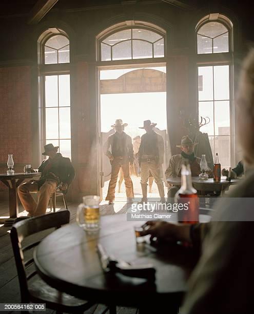 Cowboys at saloon