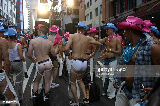 Cowboys at the Sydney Gay and Lesbian Mardi Gras 4 March 2006 AFR Picture by JAMES ALCOCK
