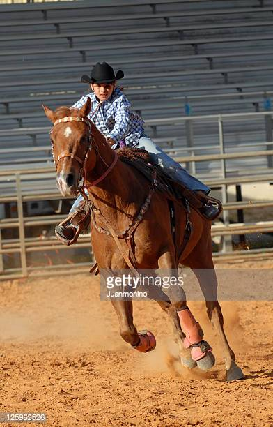 Cowgirl galloping