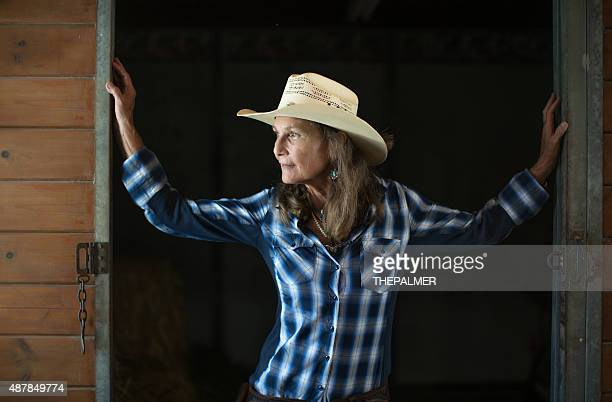 Cowgirl in a ranch