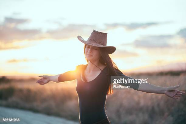 Cowgirl in nature