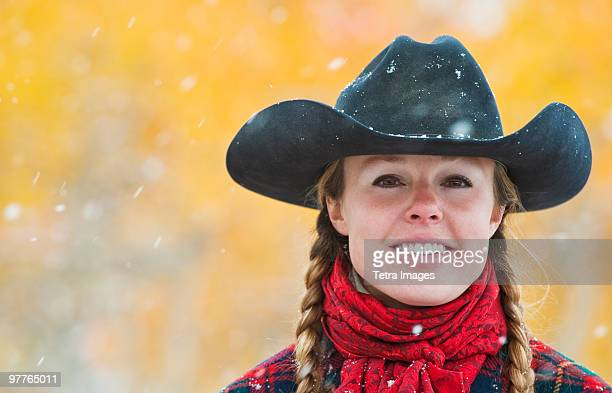 cowgirl - cowgirl hairstyles stock photos and pictures