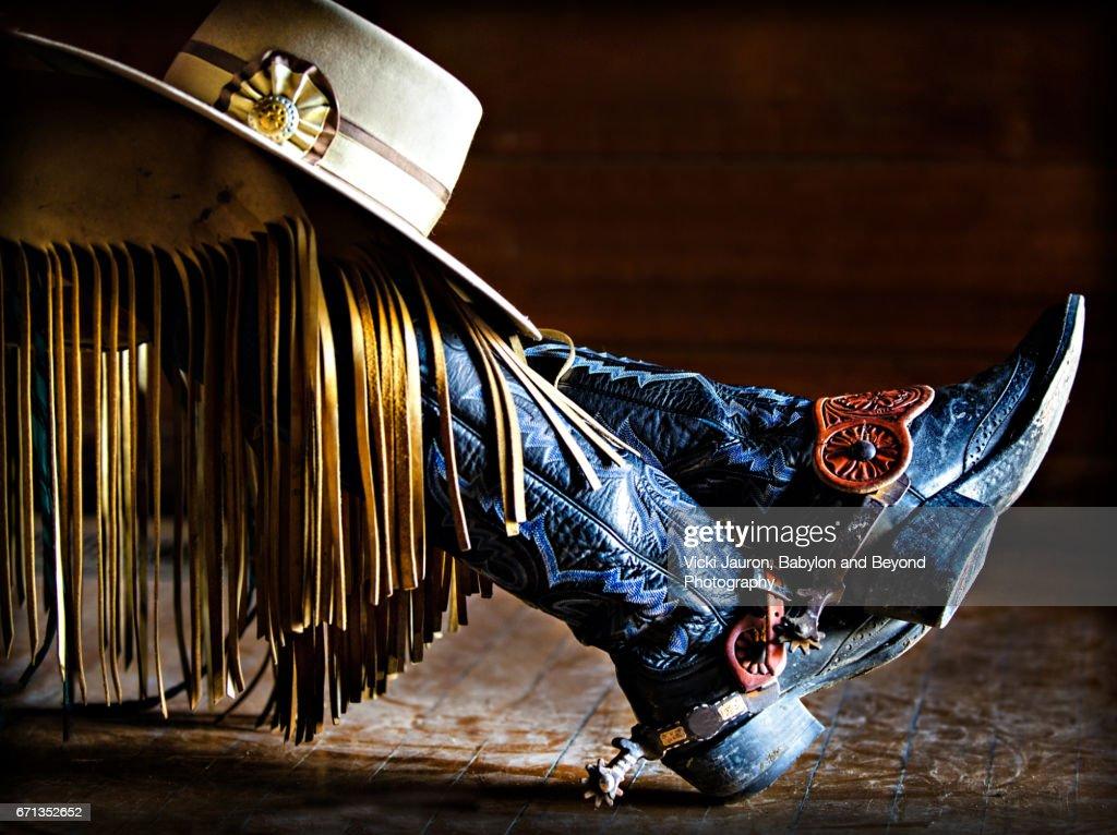 Cowgirl Style in California : Stock Photo