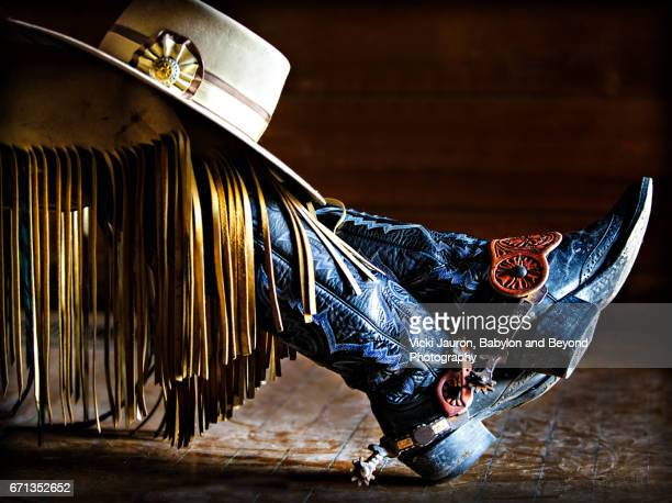 cowgirl style in california - cowboy hat stock pictures, royalty-free photos & images