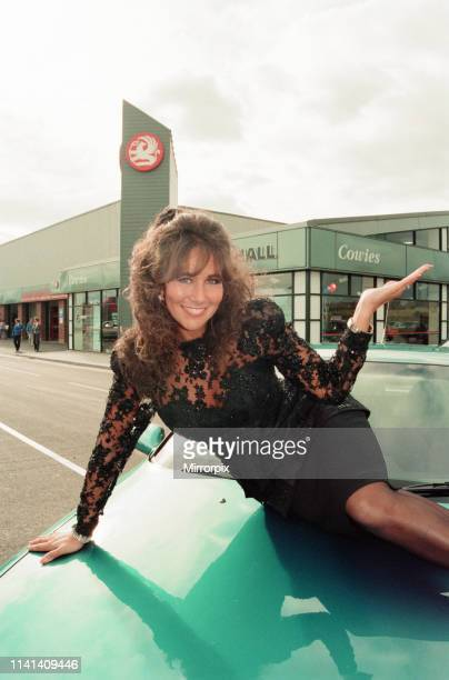 Cowies Redcar Vauxhall Dealership Trunk Road Redcar North Yorkshire England 22nd July 1993 pictured glamour model Linda Lusardi opens new two million...