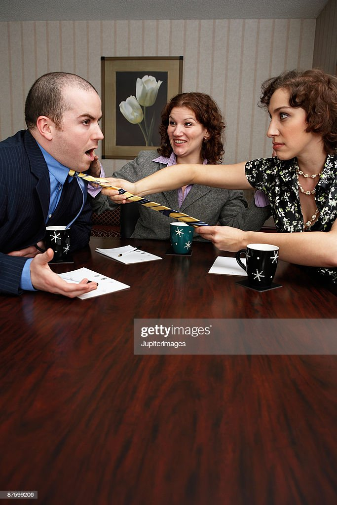Coworkers fighting : Stock Photo
