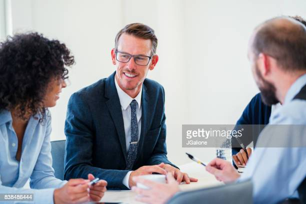 Coworkers in a meeting