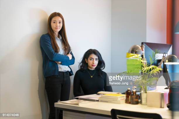 Coworkers in modern office