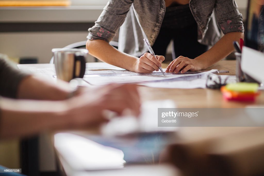 Coworkers working together : Stock Photo