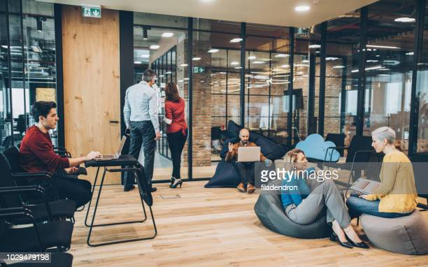 coworking space - modern stock pictures, royalty-free photos & images