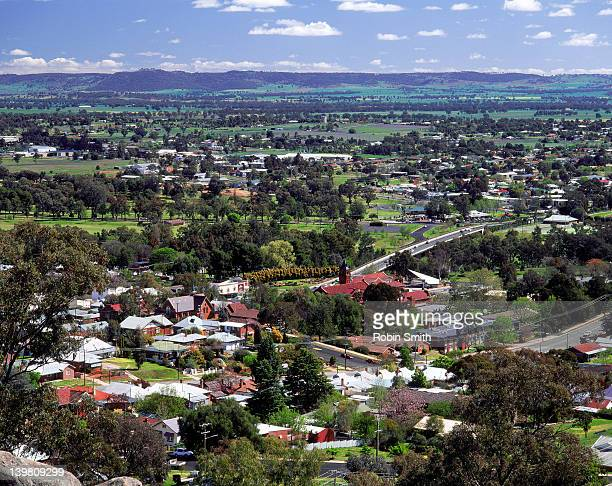 Cowra township, Lachlan River Valley (from hill)
