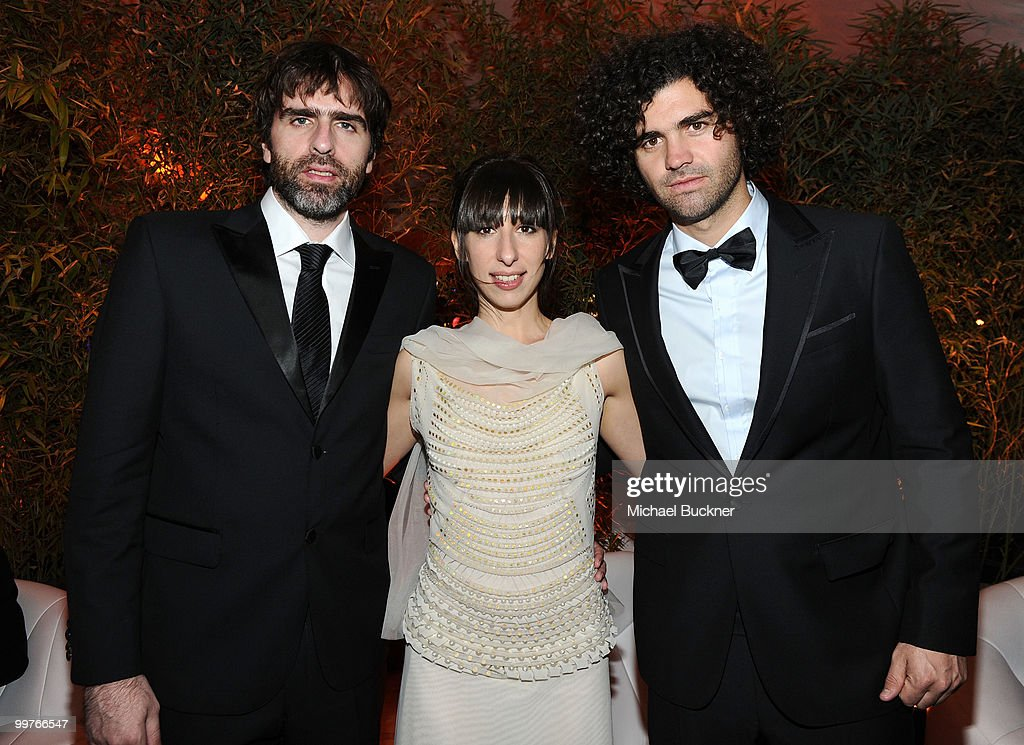 Co-writer Armando Bo, actress Maricel Alvarez and co-writer Nicolas Giacobone attend the Biutiful Party at the Majestic Beach during the 63rd Annual Cannes Film Festival on May 17, 2010 in Cannes, France.