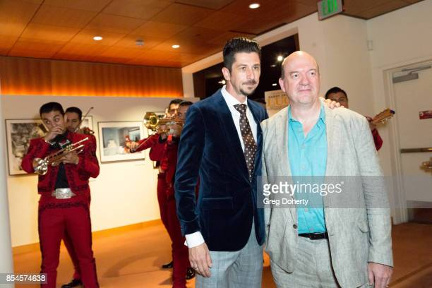 Cowriter Drago Sumonja and Director John Caroll Lynch attend the premiere of Magnolia Pictures' 'Lucky' after party at Linwood Dunn Theater on...