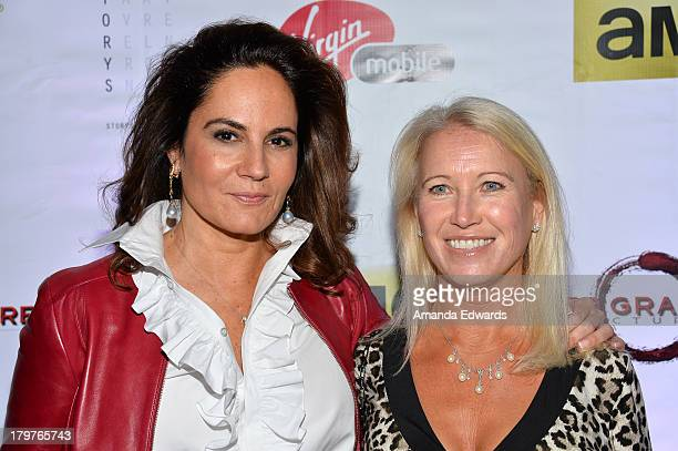 Cowriter/ producer Emily Wachtel and Clea Newman Soderlund attend the Virgin Mobile Arts Cinema Centre's Lucky Them After Party during the 2013...