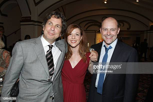CoWriter/director Peter Farrelly Sandra Corddry and Rob Corddry at the premiere of The Heartbreak Kid at Mann's Village Theater on September 27 2007...