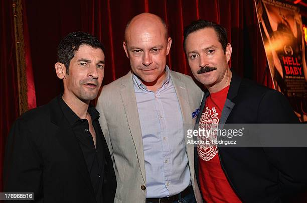 Cowriter/director Robert Ben Garant actor Rob Corddry and cowriter/director Thomas Lennon attend the after party for the premiere of Millenium...