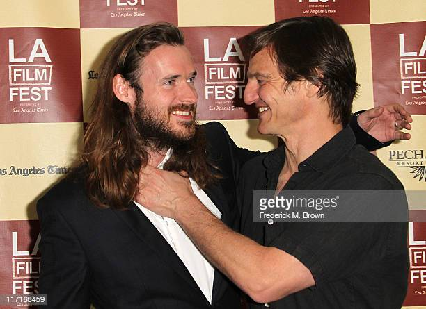 Cowriter/producer Mike Cahill and actor William Mapother attend the Los Angeles Film Festival Screening of Another Earth at the Regal Cinemas LA Live...