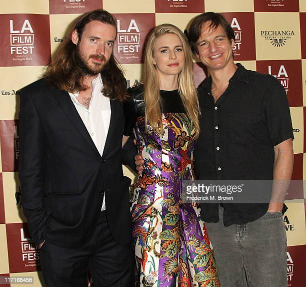 Cowriter/producer Mike Cahill producer/cowriter/actress Brit Marling and actor William Mapother attend the Los Angeles Film Festival Screening of...