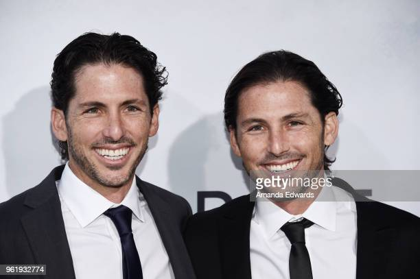 Cowriters and producers Aaron Kandell and Jordan Kandell arrive at the premiere of STX Films' 'Adrift' at the Regal LA Live Stadium 14 on May 23 2018...