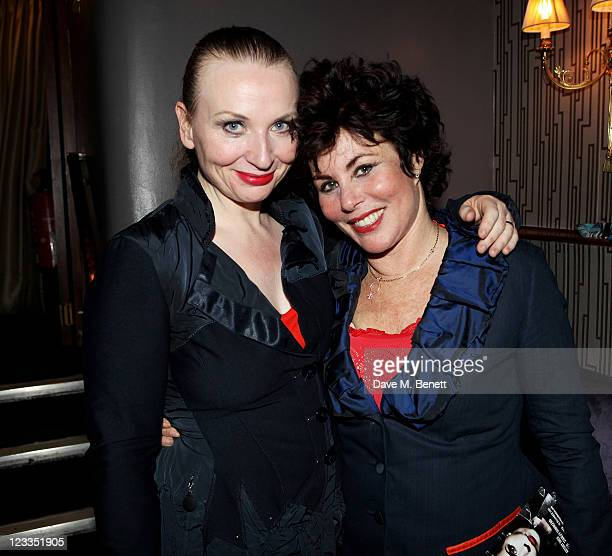 CoWriters/Performers Judith Owen and Ruby Wax attend an after party celebrating Press Night of 'Ruby Wax Losing It' at The Duchess Theatre on...